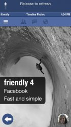 Приложение «Friendly for Facebook» для iOS